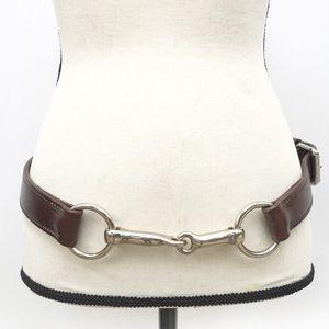 Leather Horse Bit Equestrian Waist Hip Belt 36